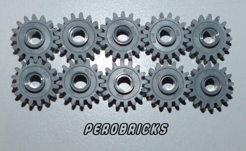 Lego Technic Technology 10 x Gear 16 Zähne #6542 Dark Grey New