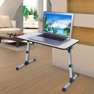 Image Is Loading Adjustable Height Laptop Stand Desk Computer Table Sofa