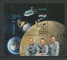 Moldova 2019 Space, Apollo 11 50th Anniversary Moon Landing MNH Block