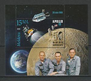 Moldova-2019-Space-Apollo-11-50th-Anniversary-Moon-Landing-MNH-Block