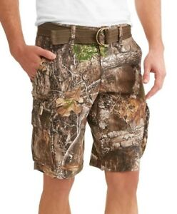 Men-039-s-George-Stacked-Camo-Cargo-Shorts-and-Belt-Choose-Your-Size-New-With-Tags