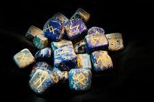 Runensteine (Im Runen-Set Lapitz-Lazulith), blau, neu