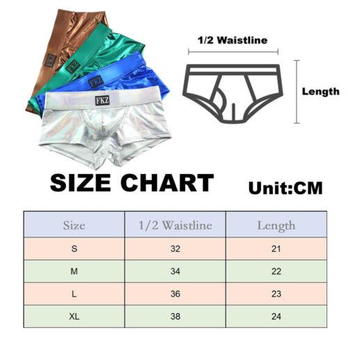 Men/'s Faux Leather Shiny T-shirt Underwear Set Muscle Top Undershirt Shorts