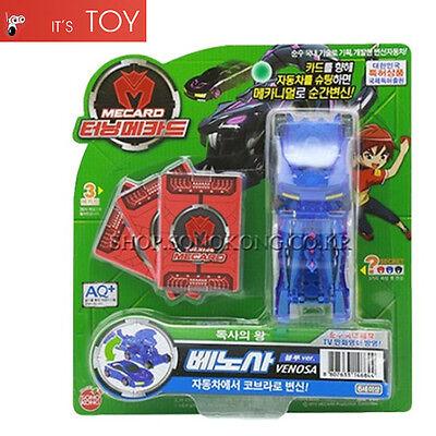 Turning Mecard VENOSA Blue ver Transformer Transforming Robot Car Toy Sonokong