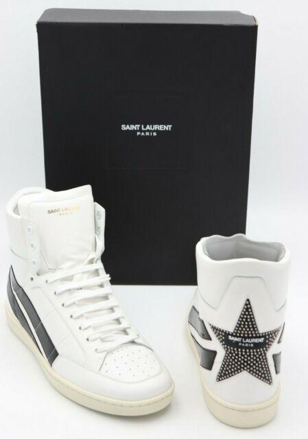 414689dd1d0 NIB Saint Laurent Signature Court Classic SL/36H Stripe Star Sneakers 10 43  $895