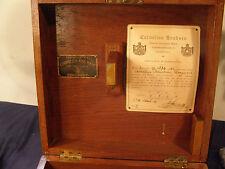 Cornelius Knudsen Nautical Sextant Wood Case - Kopenhagen