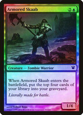Skeletal Grimace Foil Innistrad quase perfeito Black Magic The Gathering Cartão comum abugames