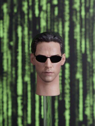 OSK1908861 personalizzato 1//6 SCALA MASCHIO TESTA SCOLPIRE con occhiali da sole in metallo
