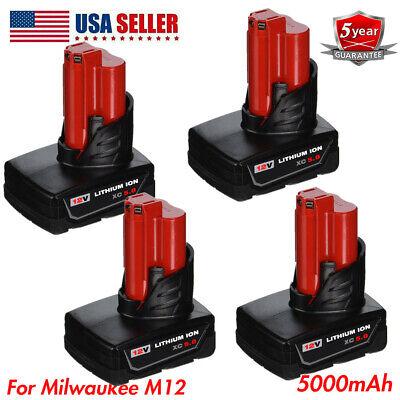 Milwaukee Redlithium M12 XC4.0 Lithium Ion Battery Pack 48-11-2440