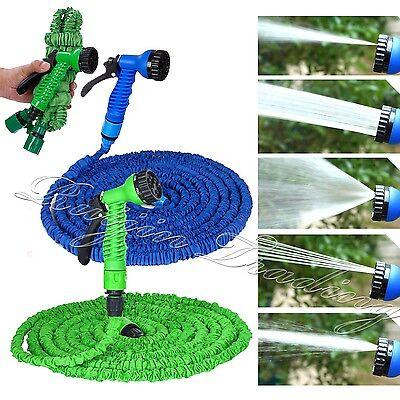 Expandable Flexible Garden Water Hose Pipe w/ Spray Nozzle Gun 25 50 75 100 FT
