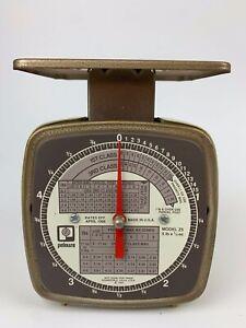 Vintage-Pelouze-Z5-Postal-Scale-1988-5lb-x-1-2oz-Mail-Shipping-USA-Analog