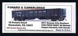 Funaro-F-amp-C-6511-KANSAS-CITY-SOUTHERN-Gondola-KCS-Hopper-AB-Brake-1-PIECE-BODY