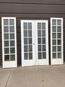 Image Is Loading An Set Of Four Painted French Door And