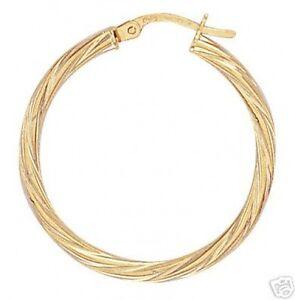 Image Is Loading 9ct Gold Hoop Earrings Diameter 2 9cms 1