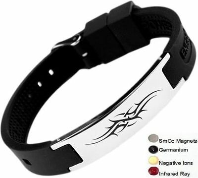 Anion Magnetic Energy  Power Bracelet Health 4in1 Bio Armband BAND
