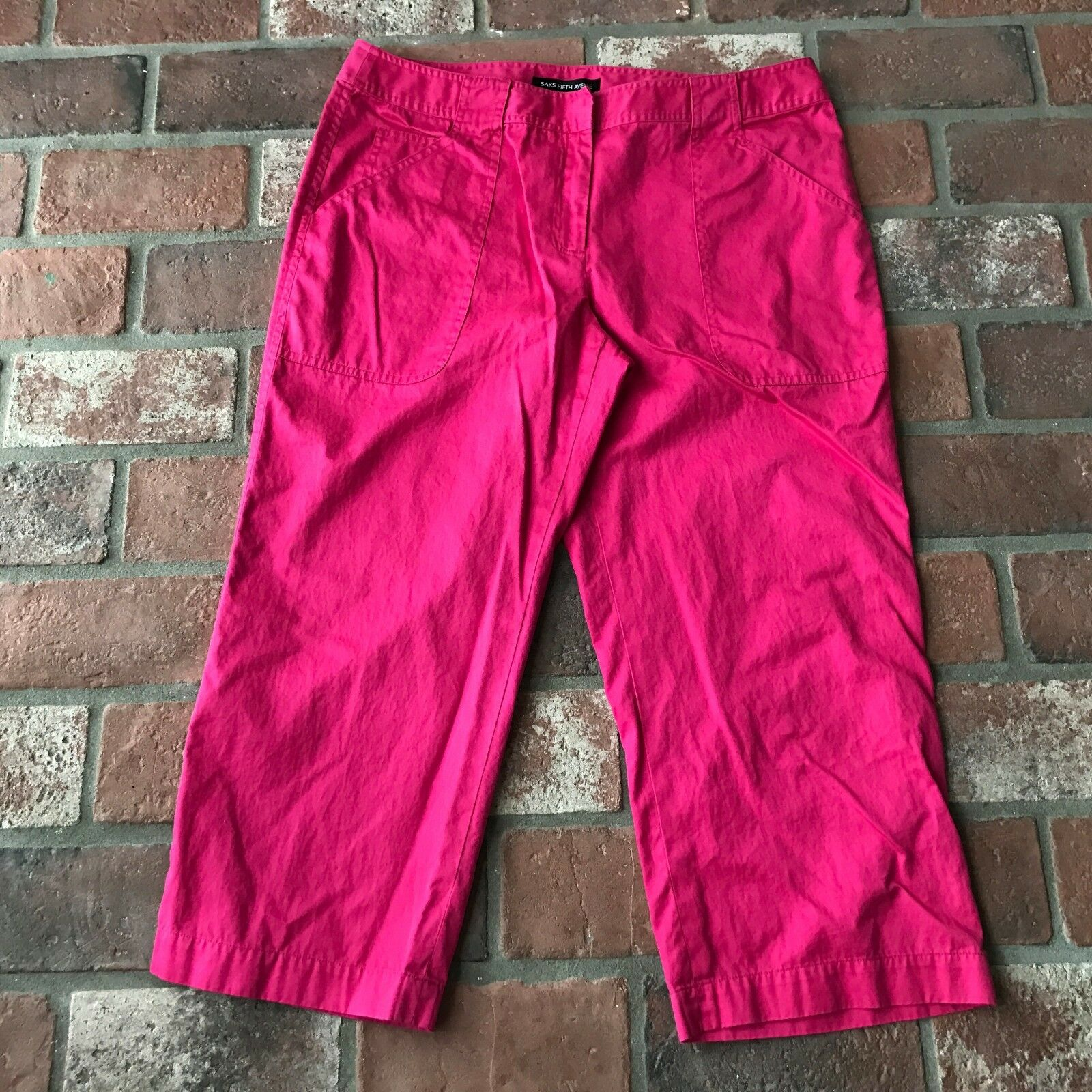 Saks Fifth Avenue Pink Women's Size 12 Capri Pants