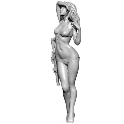 55mm X Detective beauty C resin soldier white model YFWW35-201991 L4N6 1//35
