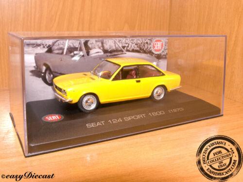 SEAT 124 SPORT 1600 YELLOW 1:43 1970 MINT WITH BOX ART!