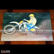LAURENT PIDOUX sur HUSQVARNA en 1987 - Poster Pilote Moto CROSS #PM1300