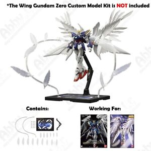Details about Seraphim Feather Effect Unit + Base for MG 1/100 Wing Gundam  Zero Custom EW HIRM