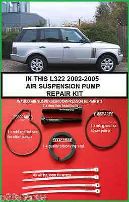 Range Rover L322 Air Suspension Compressor Pump Piston Ring & Seal Refurb  kit 8438644769540 | eBay