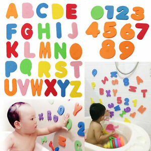 36Pcs Children Baby Kid ABC 123 Foam Letters numbers Bath Tub Swimming Play Toy