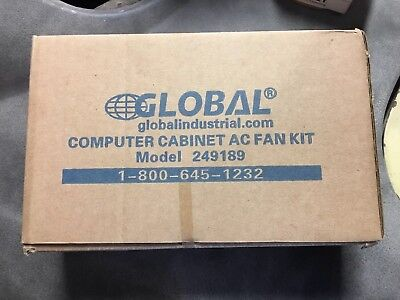 AC Fan Kit For Computer Security Cabinet /& Audio-Visual Cart Global 249189