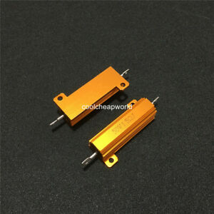 new 25 Ohm 25R 50W Watt Power Metal Shell Case Wirewound Resistor