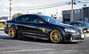 X X AODHAN LS X GOLD WHEELS FITS ACURA TL RL BMW - Acura tl gold rims