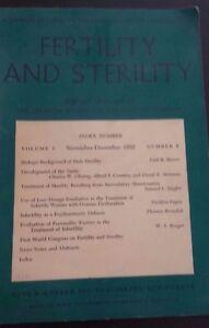Revista Fertility Y Asrm Oficial Journal VOL3 Nov - Dic 1952 P. B. Hoeber ABE