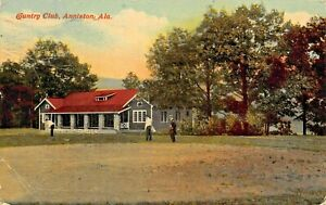 ANNISTON-ALABAMA-COUNTRY-CLUB-1917-POSTMARK-POSTCARD-MONTROSE-HOTEL-GLENOVER-PA