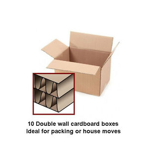 10 x large double wall cardboard boxes removal packing. Black Bedroom Furniture Sets. Home Design Ideas