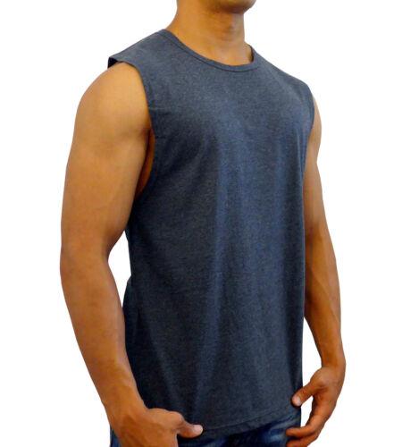 NEW MENS PLAIN MUSCLE TANK SLEEVELESS TOP BODYBUIDING GYM SPORT FASHION SHIRT