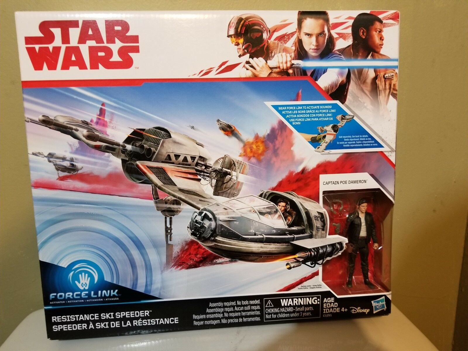 STAR WARS Resistance Ski Speeder Last Jedi Poe Dameron Hasbro