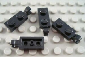 Lego 4 White 1x2 plate with clip on the end NEW