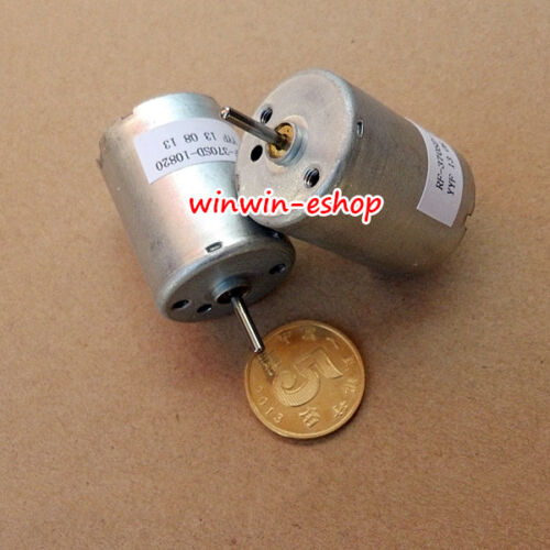 DC 12V-24V 3990RPM low Speed Metal Brush Micro Round RF-370SD-10820 Motor