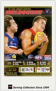 2004-AFL-Teamcoach-Gold-Trading-Card-G114-Brad-Green-Melbourne
