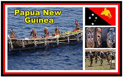 PAPUA NEW GUINEA - SOUVENIR NOVELTY FRIDGE MAGNET - BRAND NEW - GIFT / XMAS