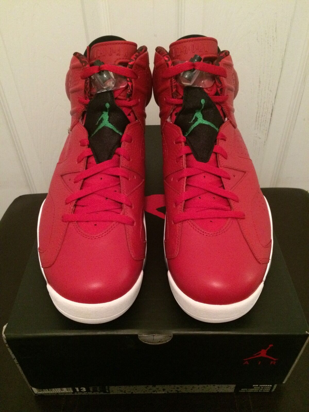 Nike Air Jordan 6 VI Retro Spizike 40 Acres Varsity Red Green 694091 625 Sz 13 Cheap and beautiful fashion