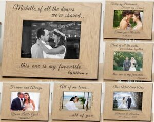 Personalised Wedding Day Wooden Photo Frame Gift Ideas For Bride