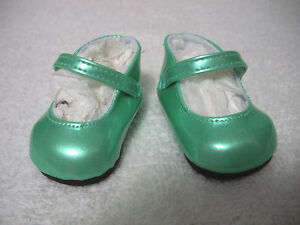 Fits-18-034-Magic-Attic-Doll-Pearly-Green-Patent-Leather-Mary-Janes-Shoes-D1523