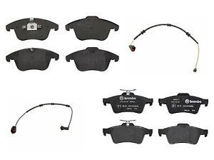 Front Ceramic Brake Pads Pad Set Brembo with Sensor For Jaguar XF XJ 2013-2015