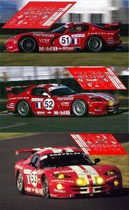 Calcas Chrysler Viper Gts Le Mans 2000 1:32 1:24 1:43 1:18 Dodge Slot Decals Conduire Un Commerce Rugissant