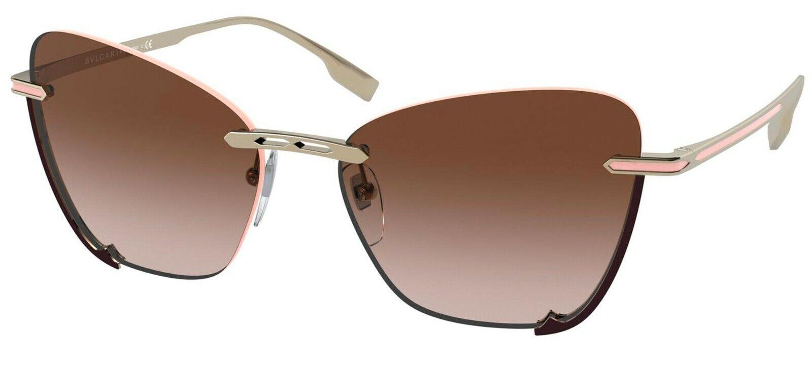 Bvlgari B.ZERO1 BV 6162 Pale Gold/Brown Shaded (278/13) Sunglasses