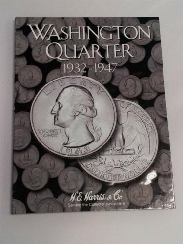 H.E Harris Washington Quarter Folder 1932-1947 Coin Storage Album Book #1