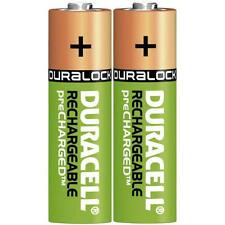 2 x Duracell AA 2400 mAh Rechargeable Batteries NiMH, HR6 MN1500