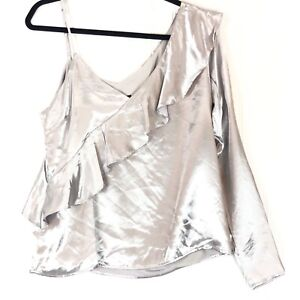 Bardot-size-4-XS-top-frill-off-the-shoulder-blouse-X-Small-NEW
