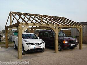 Wooden Garden Shelter Frame Gazebo Cart Lodge Car Port