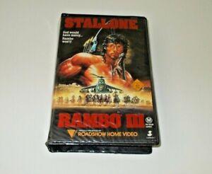 Rambo-3-VHS-Pal-Roadshow-Big-box-ex-rental-Original-case-Stallone