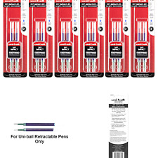 Uni Ball Signo Impact 207 Rt Refills Blue Ink 10 Mm Bold Point 6 Packs Of